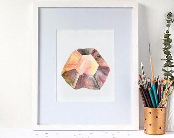 Fine Art Print - Watercolour Alexandrite Gemstone