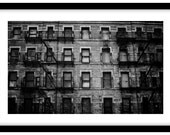 Old Warehouse in New York City. Black and White Fine Art Photograph printed on 308gsm Hahnemuhle fine art paper (Unmatted)