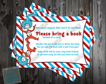 Cat in the Hat - Thing One Thing Two - Dr. Suess Baby Shower Bring a Book Printable