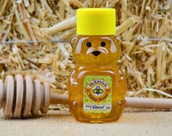 2oz 100% Natural Raw Honey Bear