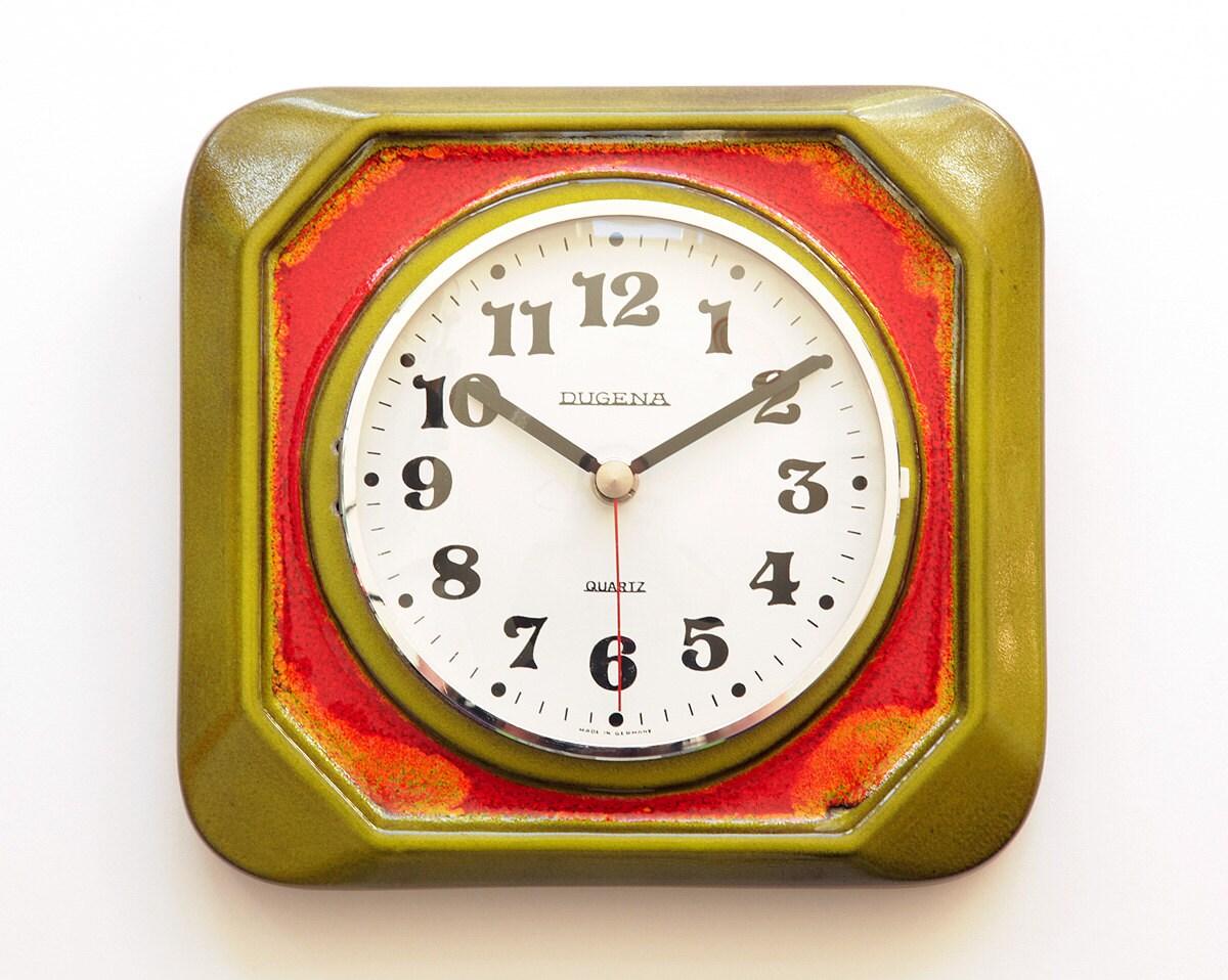 fat lava dugena kienzle ceramic wall clock by