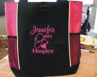 Tote Bag Personalize Nurse Student RN cna lpn ER Lvn Nicu Medical Assistant Emergency Room Department Nursing Hospital Sale!