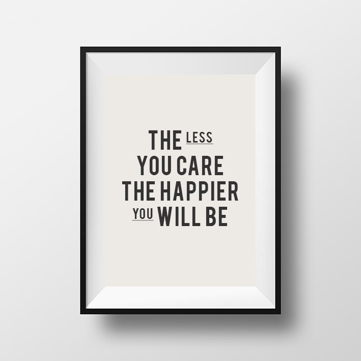 Home decor wall art the less you care inspirational for Home decor for less