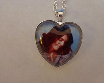 Karen Carpenter Photo Heart Necklace