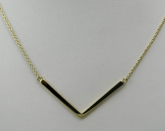 Sterling silver with gold vermeil Chevron necklace