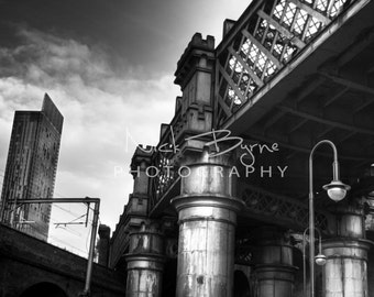 Then and now, bridge, castlefield, manchester, viaduct