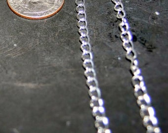 10ft silver chain,large silver chain,chunky silver chain,Nickel free chain,kette silver,silver twist style chain,6x4x1mm