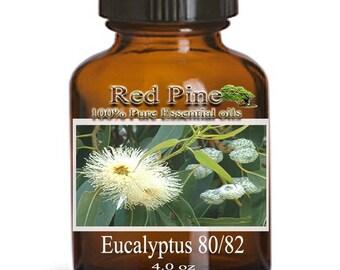 Eucalyptus 80/82 Essential Oil - Eucalyptus globulus - 100% Pure Therapeutic Grade
