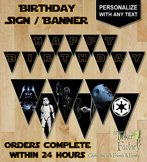 Star Wars Darth Vader Party - Personalized Happy Birthday ...
