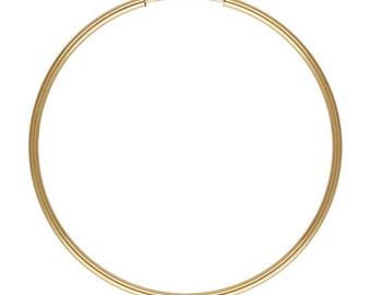 Gold Filled Endless Hoop Earrings - 1.25x50mm - 1 Pair