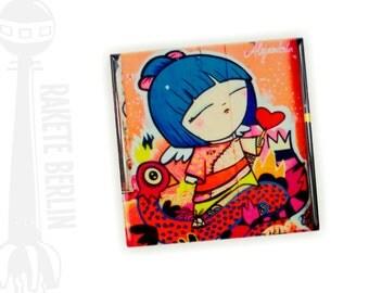 Tile 'Lady Asia- Streetart'