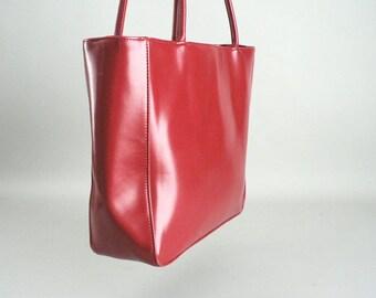 Red Shopper Style Shoulder Bag