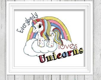 Personalised Unicorn Print