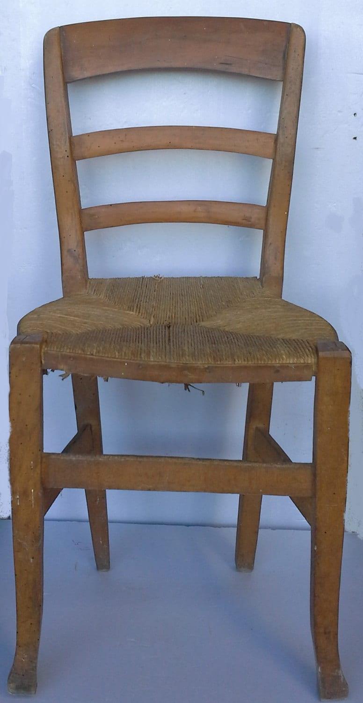 Wooden Wicker Furniture ~ Vintage italian chair in wood and wicker