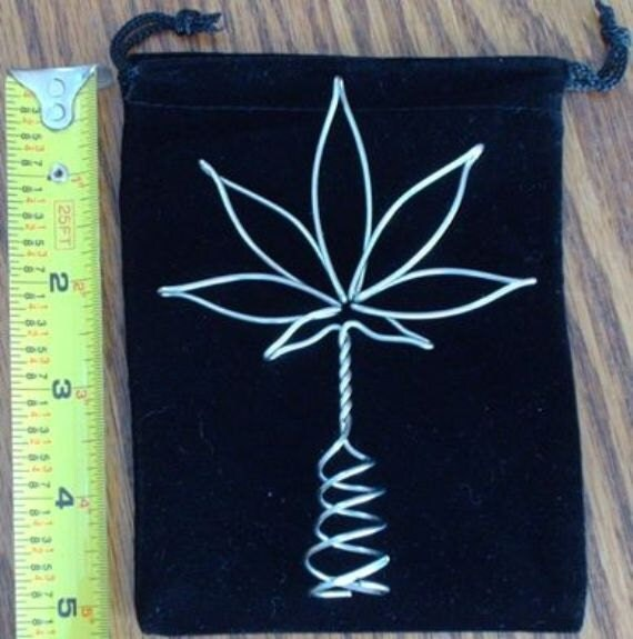 mmj wiring marijuana cannabis pot wire leaf christmas tree topper