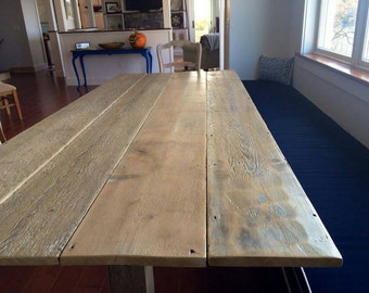 Captivating Maine Barn Board Dining Table