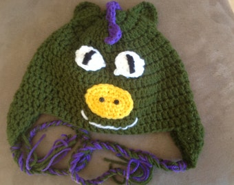Green Dragon Crochet Hat