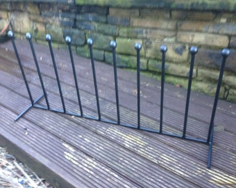Wrought iron welded 5 pair wellington boot rack