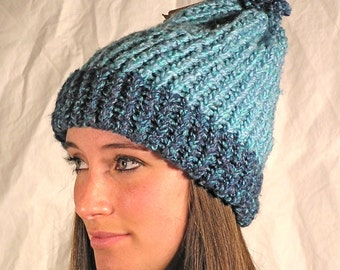 Blue Flecked  Hat