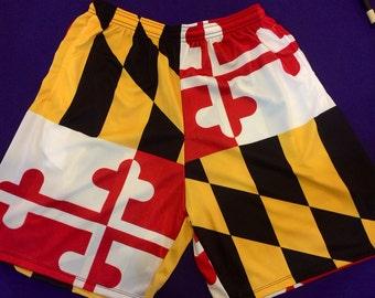 Maryland Flag Shorts - Adult Sizes