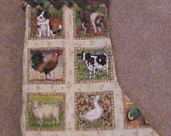 Farm Animals Christmas Stocking