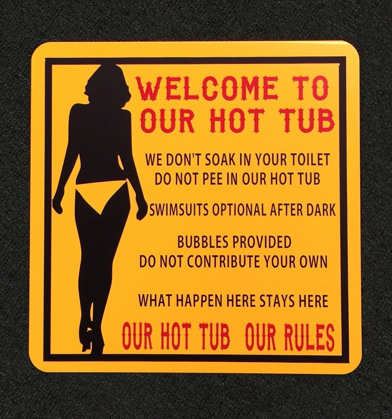 Hot Tub Signs uk Hot Tub Rules Sign Funny Sign