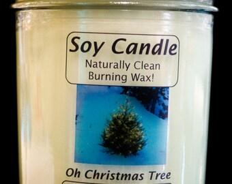 Oh Christmas Tree - Half Pint Mason Jar Eco Soy Candle