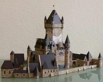 Paper model of castle cochem
