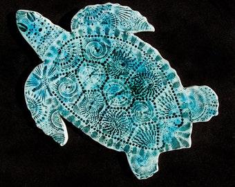 Porcelain Hawksbill Turtle Wall Decor