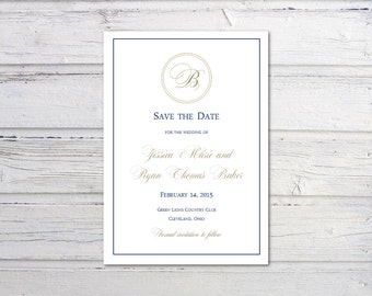 electronic save the date template - items similar to printable elegant save the date template