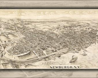24x36 Poster; Map Of Newburgh, New York State 1900