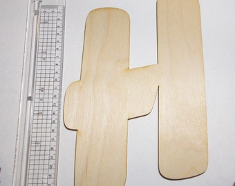 1 wood letter lasered untreated at a height of 23cm 9.05 inch wall decoration for bonding is very easy just 3 mm thick
