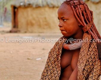 Himba village woman, Limited Edition print.