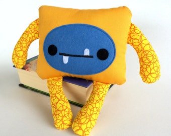 Monster Softie, Friendly Monster Stuffed Toy, Felt Monster Plushie