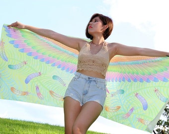 Pastel Wings Parrot Scarf Fashion Accessories