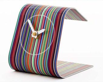 Stripe Desk Clock