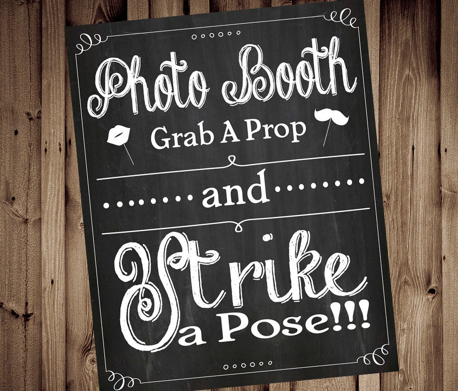 Costco Print Sizes >> Grab a Prop & Strike a Pose Photobooth Chalkboard Grab a
