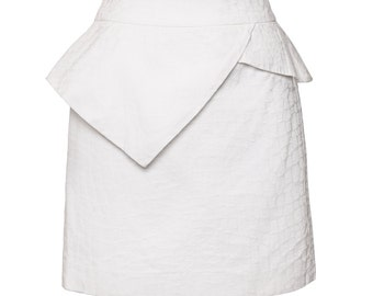 Kristina peplum skirt off white