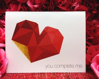 "Valentine's Day Card ""You Complete Me"""