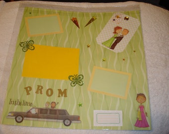 Premade 12x12 Scrapbook Page - PROM