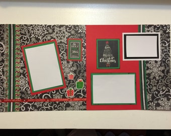 Oh Holy Night Christmas Scrapbook Pages