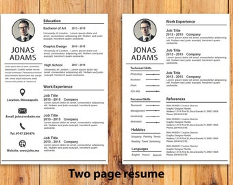 custom resume template cv templateword resume template by