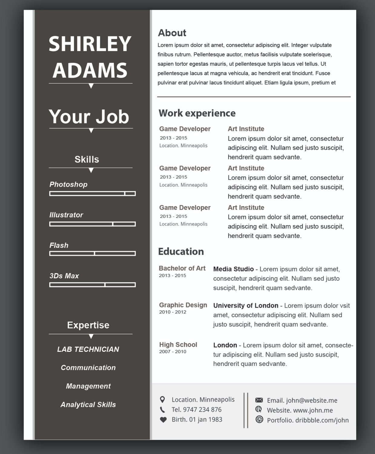 custom resume template   cv template word resume template  photoshop resume template  ai resume
