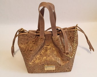 Gold Dust Cork Hand Bag