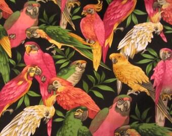 Exotic Mulicolor Parrot Home Decor Fabric 100 Cotton 4 15