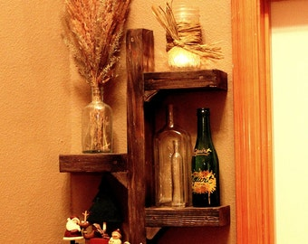 Rustic Display/Candle Holder/Wall Sconce
