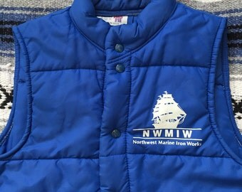 Vintage 70s King Louie Down Vest Size Small(36) Made In USA