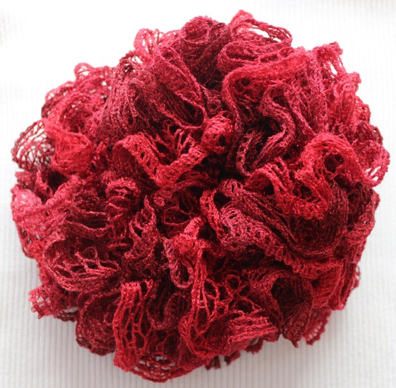 Crochet Scarf Pattern Using Red Heart Sashay : Rubies Crochet Sashay Scarf - 46