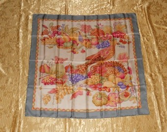 Genuine Salvatore Ferragamo neckerchief / 100% silk