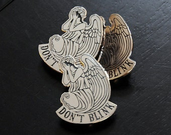 SALE!!  Don't Blink Angel.  Lapel pin or keychain.  Pick one...